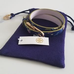 NWT Tory Burch Reversible Leather Wrap Bracelet